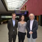 Pierre Liljefeldt of the Swedish Embassy, Paula and Ricardo Ohtake of the Tomie Ohtake institute