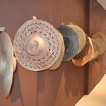 Hats made from corn leaves at A Casa