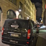 Mercedes-Benz Fashion week official cars on the streets