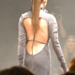 Open back with ribbons in a cross