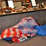 Last thing I saw before I went home was a homeless in beautiful colours sleeping on the street