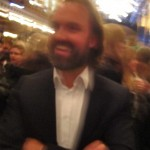 Happy but blurry Alexander Lervik, who had designed the jewellery at V Avenue Shoe Repair show
