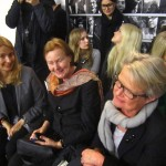 VIP ladies in first row, Lena Patriksson of ASFB, Ann Schierenbeck and Ingrid Giertz-Mårtenson