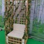 A wooden garden throne from Steneby Design School