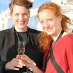 Katja Pettersson and our project manager Annika Björkman enjoy the sun on deck
