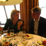Arja Saijonmaa and Robin Edman at the dinner table
