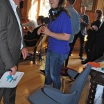 BBC interviews Lennart Tranback, producer of Lei the office chair for women