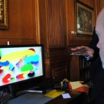 Paintings made by Tobii eye controled screen - Piers Roberts gets to try