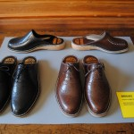 Mats Theselius Brogues Docksta Shoes, with the originals behind