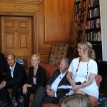 During the sofa talks, from the left Hector Minto of Tobii, Anna Romboli of Ergonomidesign, Lennart Tranback of Officeline and myself