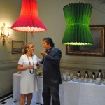talking to design director at Philips Oscar Pena, under Whatswhats' lamps