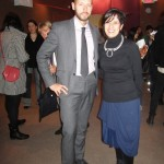 Niklas Arnegren from Consulate General has a good relation with FIT and here with Tanya Melendes dressed in Martin Margiela for the evening