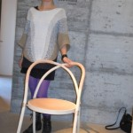 Lisa Hilland chair for Gemla - two pieces made from existing machines, combined in a new way
