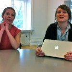 Angela and Elin Trogen of Hall of Femmes visiting us at Svensk Form