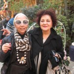 Rossana Orlandi herself and Lina Kanafani of Mint Gallery London