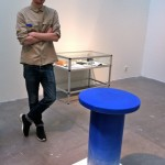 Nick Ross, marble table (like old marble sculptures were strong colours) Here with contemporary graffiti colours