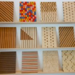 Intarsia with burnt wood sheets samples by Edvin Eklund