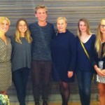 Ewa Björling visits with Swedish Students at Parsons