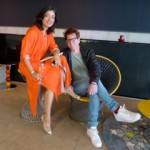 Divya Thakur with trend specialist Stefan Nilsson