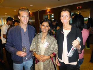 Stefan Nilssons assistant, actor from India and Christina Lund of Form