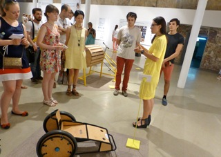Sveta from Design Museum guiding in Russian through Ung Svensk Form and Design S