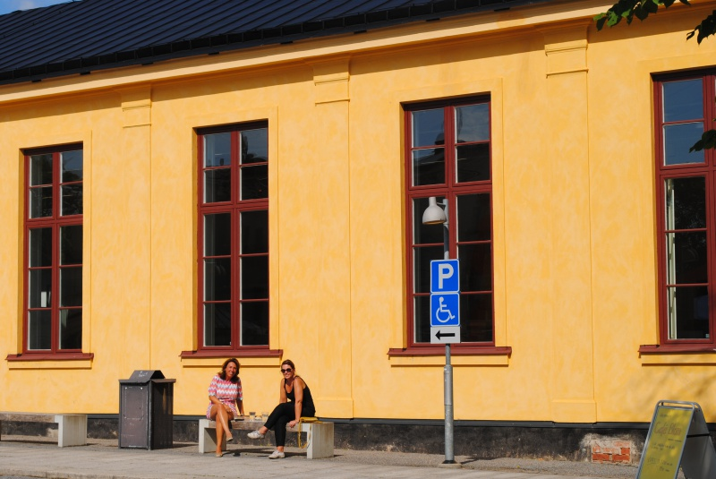 My collaborators Anna Bellander and Helene Wallin Hedström in front of ArkDes in the sun last week