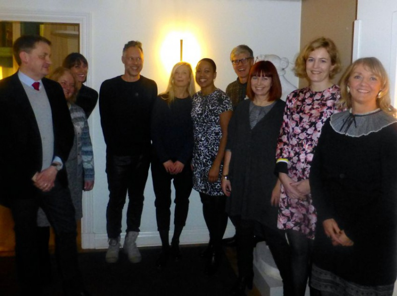 from the left Martin Sundin, Anita Christiansen, Sarah Hurly-Åsberg, our new contact at the Ministry, Bo Madestrand, Karin Wiberg, Alice Bah Kuhnke, Björn Göransson, Stina Nilimaa Wickström, Jenny Lantz and me.