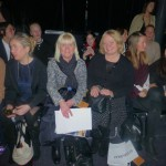 Anneli Wardell and Anita Christiansen first row seating at  Swedish Fashion Talents