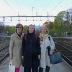 Ready to take the train: Linda, Klara and myself