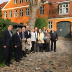 The board gathering outside our hostess Grete Rostböll's house