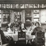 The famous dining room at Bröndums hotel - with all the portraits surrounding