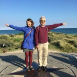 our Danish Hostess Nina  Brandtoft-Rasmussen and Tatsuya Tanami of Nippon Foundation, show the way