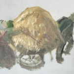 Sketch by Anna Ancher, just started, see how she treats the light