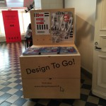 Clever wagon in the entrance promoting Helsinki Design Week