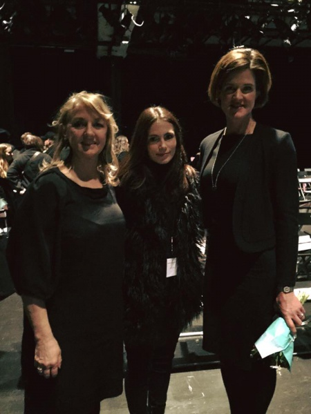 With Elin Fredberg of Swedish Fashion Council and Anna Kinberg Batra, Moderaterna