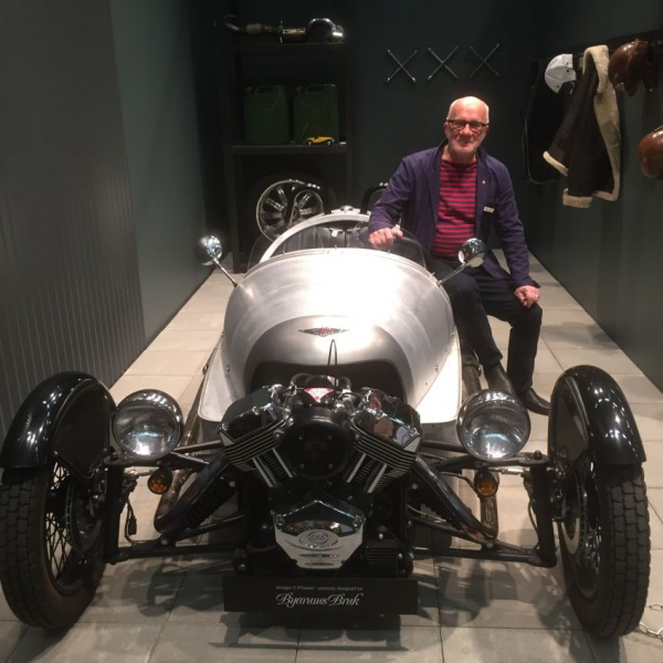 Kenneth Ståhl, proud owner of unique Morgan made by Byarum