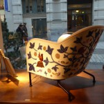 A quick visit at Sebastian Schildt gallery, chair by Mats Theselius with mother's pattern