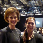 Anna Kinberg Batra compliments the project manager of Young Fashion Talents, Helena Mellström