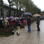 line outside the cultural centre
