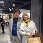 Kurosaki-san came from Tokyo to see the exhibition