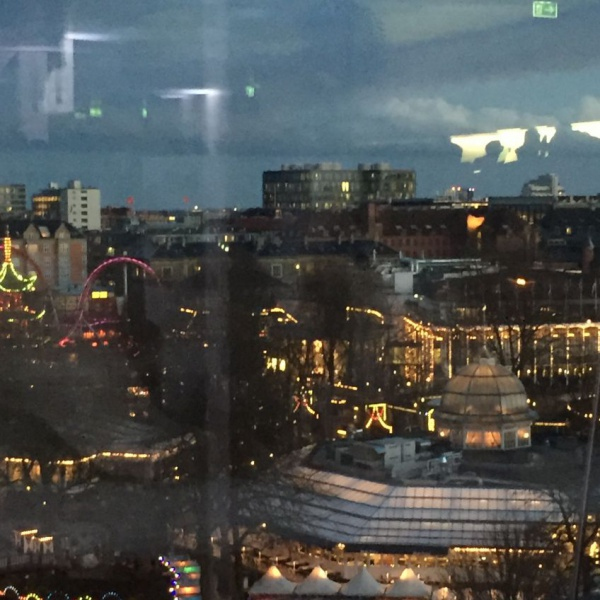 View from the 7th floor after party at Industrins hus
