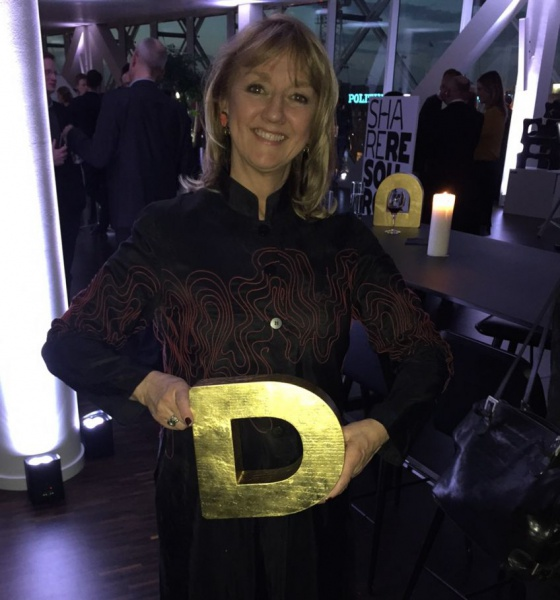 Me trying out the feeling of holding the actual golden D award