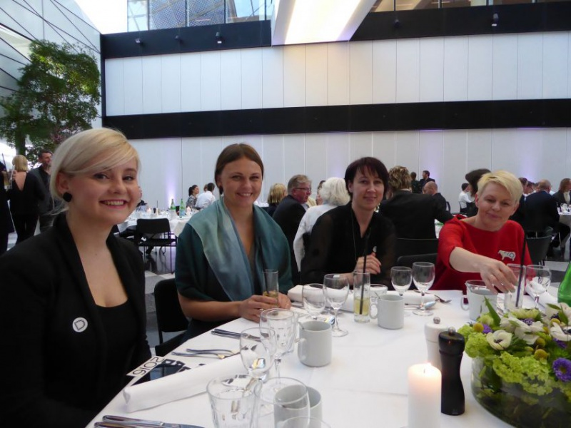 Our Estonian friends arrived directly to the Award ceremony after flight delays