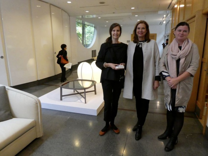 Anna von Schewen with Swedish Ambassador of Seoul and her collaborator Linda Backtimen