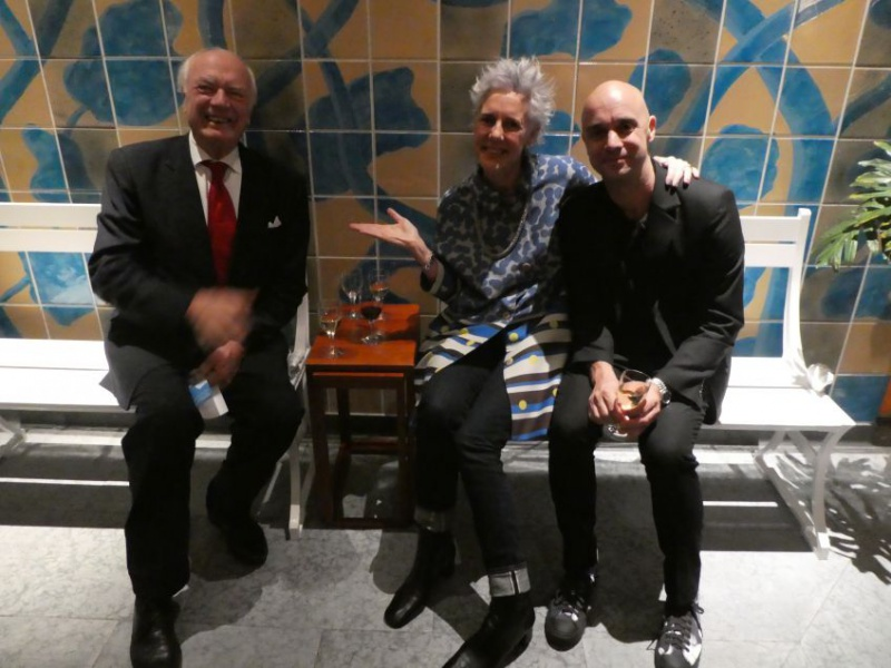 Back in the Swedish Embassy Residence, Krister Kumlin, Astrid Klein and Mårten Claesson