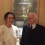 Louise Liljencrantz opens new showroom on Brahegatan, here with her dad