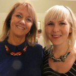 Märta Mattson and me at the auction house wearing her jewelry