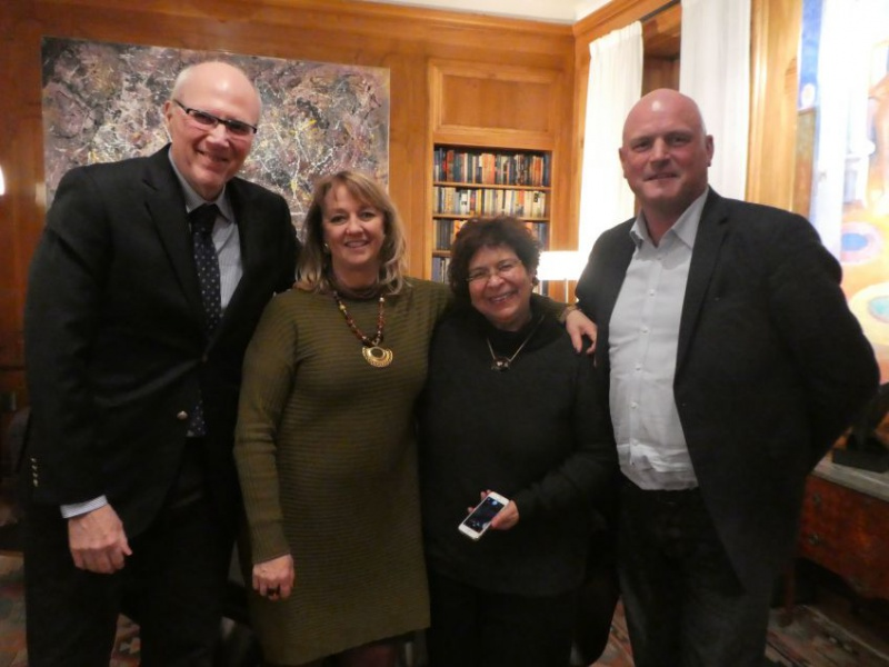 Visit at the Brazilian Ambassador's residence to meet with professor Maria Cecilia Losciavo Dos Santos and Lars Eriksson, Jönköping, discussing future exchange