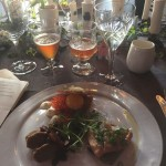 trio of roe + egg, lambs sausage, and spike from Siljan